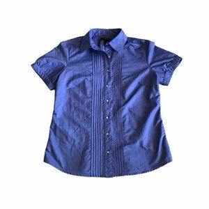 Lands End blue button down size 12 blouse